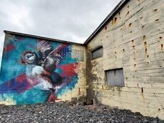 Puffin mural; Hellissandur
