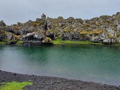 """Djupalon Lake (also known as """"Svörtulón"""", black lagoon); Snæfellsnes Peninsula"""