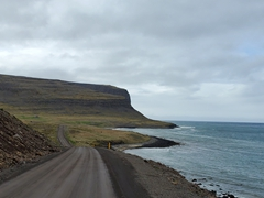 The road leading out to Látrabjarg Cliffs