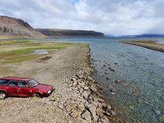 Abandoned car at Arnarfjörður