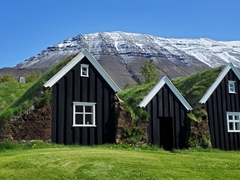 A traditional Icelandic turf house called Nýibær is a must see in Hólar