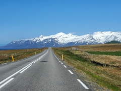 A gorgeous day to drive one of Iceland's most scenic routes - the Trollaskagi peninsula