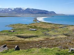 View of the Skagafjörður fjord as we drove around the Trollaskagi peninsula
