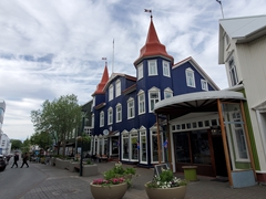 The Blaa Kannan Cafe on Hafnarstræti street is Akureyri's prettiest building