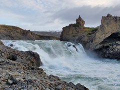 Lower river section of Goðafoss