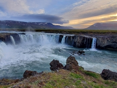 """Goðafoss or """"waterfall of the gods"""" is one of Iceland's most famous and popular waterfalls"""