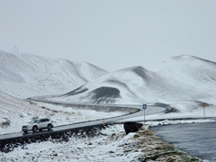 By late afternoon, the snow finally eased up and we had a winter wonderland to discover in Mývatn