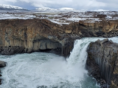 The basalt column waterfall of Aldeyjarfoss is worth the remote journey to get there
