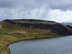 One of several Skútustaðagígar pseudocraters; Mývatn