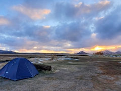 Möðrudalur Farm is the highest farm in Iceland. The lowest temperature in Iceland was recorded here. We were the only ones tent camping on a freezing night in June!