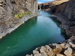 Stuðlagil Canyon became famous due to Instagram. This hidden canyon wasn't discovered until 2009 when the Kárahnjúkar hydro plant became operational and the water level decreased