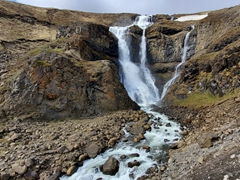 Rjúkandi waterfall in the Valley of Jökuldalur