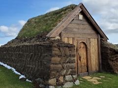 The beautiful turf church of Geirsstaðakirkja
