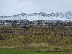 Towering mountains of the East Fjords