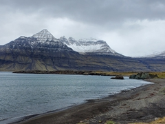 East fjord scenery on an overcast day