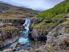 Fossardafoss near the Fossá River