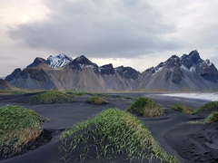 The dramatic landscape of stunningly gorgeous Vestrahorn (also known as Vesturhorn or Stokksnes)