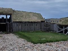 Remains of a viking village film set; Vestrahorn