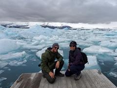 Striking a pose at Jökulsárlón ice lagoon