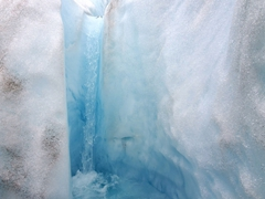 Glacial waterfall on Falljökull glacier