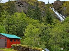 Systrafoss (the Sisters' Falls) waterfall; Kirkjubæjarklaustur