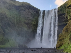 Skógafoss is one of Iceland's biggest waterfalls at 60 meters tall and 25 meters wide