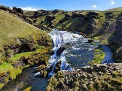Fosstorfufoss, one of 26 waterfalls found on the 4.2 mile waterfall section of the Fimmvörðuháls trail
