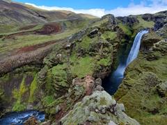 Skálabrekkufoss is the 8th waterfall encountered on the Fimmvörðuháls hike