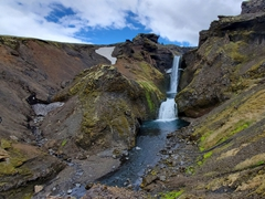 One of the last waterfalls on the Fimmvörðuháls trail