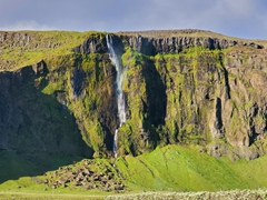 Spectacular waterfall visible from the Ring Road on the south coast