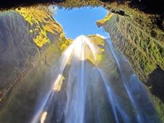 Gljúfrabúi (Canyon Dweller) waterfall