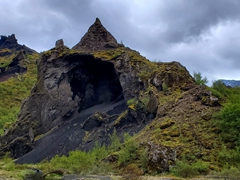 Fantastic geologic formations are everywhere in scenic Þórsmörk