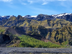 "A view of pretty Þórsmörk which literally means ""Valley of Thor"""
