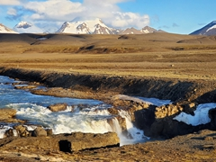 The Jökulfall glacier river