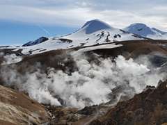 Steaming vents and bubbling rivers create this dramatic scene at Kerlingarfjöll
