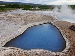 Blue pool at Blesi hot springs