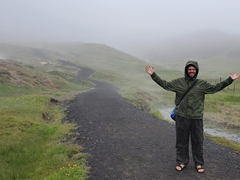 Robby on the path to Reykjadalur
