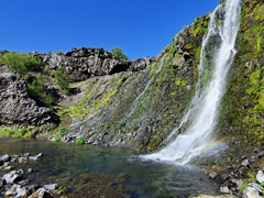 One of several pretty waterfalls at Gjáin Gorge