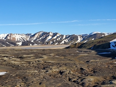 View of Landmannalaugar in the distance