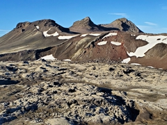 The Norðurnámshraun lava field as seen from the top of Stútur crater