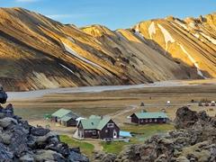 Landmannalaugar's campsite and huts