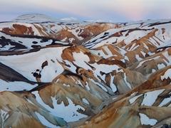 Snow capped mountains of Landmannalaugar
