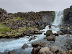 Öxarárfoss waterfall; Þingvellir National Park