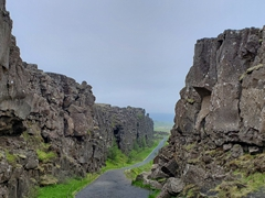Another view of the rift valley at Þingvellir National Park