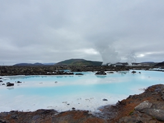 This blue water color is due to its high silica content; Blue Lagoon