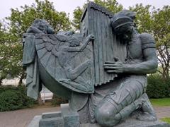 One of Einar Jónsson's sculptures on display at the Sculpture Garden in Reykjavik