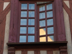 Gabled house window; Auxerre