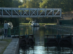 View of our first lock on the Canal du Nivernais