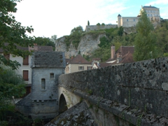 Bridge view of medieval Mailly-le-Château