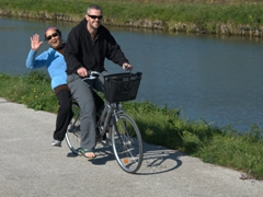 Robby giving mom a ride; Canal du Nivernais
